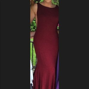 Tiffany Designs Dresses - Maroon mermaid style prom dress
